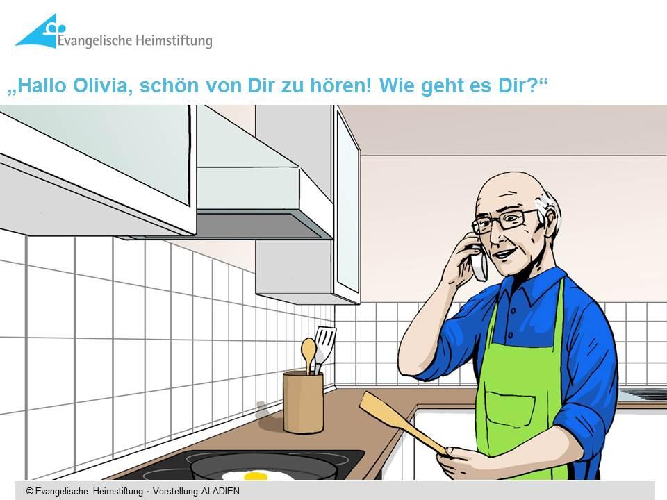 Herr Ostermann beim Kochen